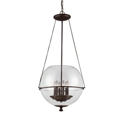 Nunda Modern 6-Light Globe Pendant Finish: Autumn Bronze