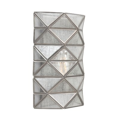 Cara 1-Light Wall Sconce with Seeded Water Glass