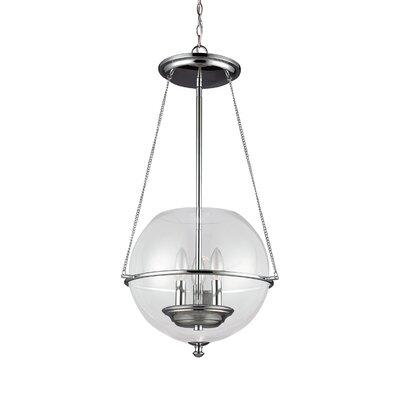 Havenwood 3-Light Globe Pendant Finish: Chrome