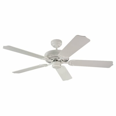 52 Regner 5 Blade Ceiling Fan Finish: White with White Blades