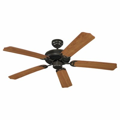 52 Regner 5 Blade Ceiling Fan Finish: Heirloom Bronze with Walnut Grain Blades