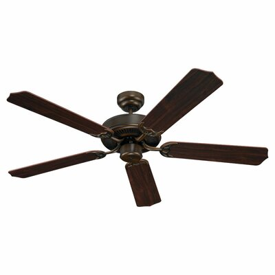 52 Regner 5 Blade Ceiling Fan Finish: Russet Bronze with Teak Wood Blades