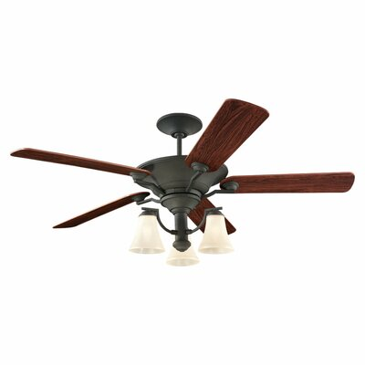 52 Selina 3 Blade Ceiling Fan Finish: Blacksmith