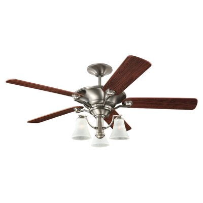 52 Selina 3 Blade Ceiling Fan Finish: Antique Brushed Nickel