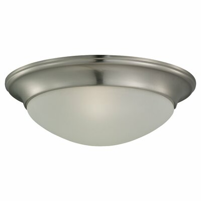 Nash Flush Mount - Energy Star Size: 5.438 H x 16.625 W x 16.625 D, Finish: Heirloom Bronze
