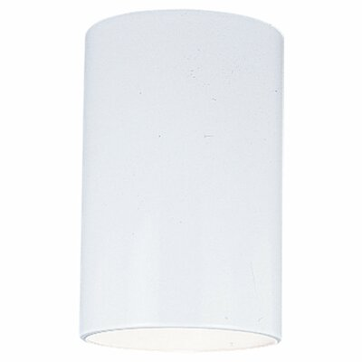 Kieu 1-Light White Ceiling Flush Mount Size: 6.63 H x 5.125 W x 5.125 D