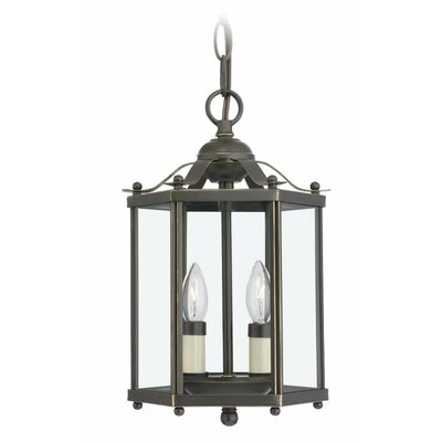 2-Light Foyer Pendant Finish: Heirloom Bronze