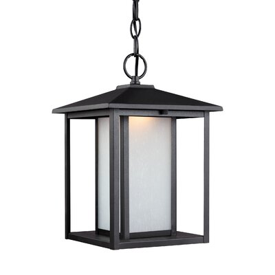 Meacham Outdoor Pendant Finish: Black