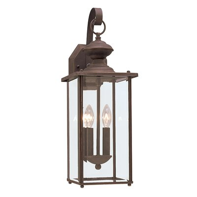 2-Light Outdoor Wall lantern Finish: Antique Bronze