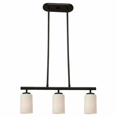 Kodi 3-Light Pendant Bulb Type: 100W Medium, Finish: Blacksmith