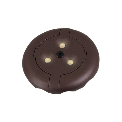 LED Under Cabinet Puck Light Kit Finish: Plated Bronze