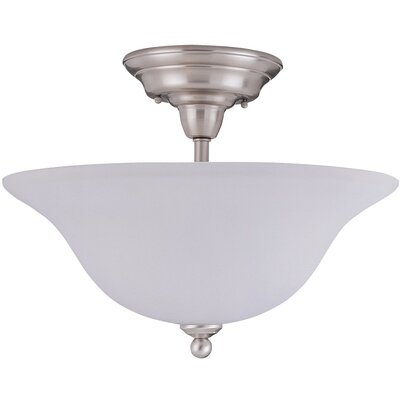 Letha 3-Light Semi-Flush Mount Finish: Brushed Nickel