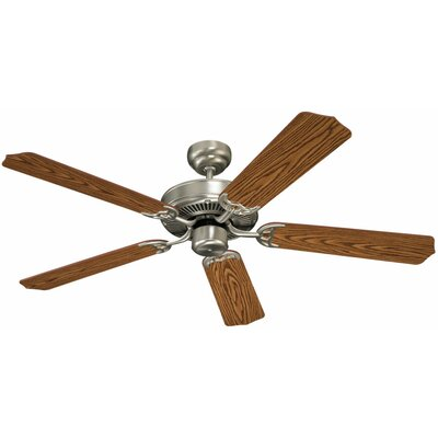 52 Quality Max 5-Blade Ceiling Fan Finish: Brushed Nickel with Mahogany Dark / Oak