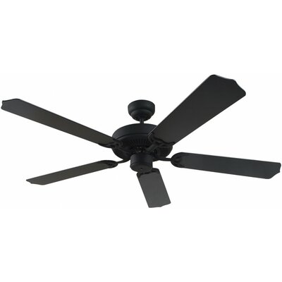 52 Quality Max 5-Blade Ceiling Fan Finish: Blacksmith with Black