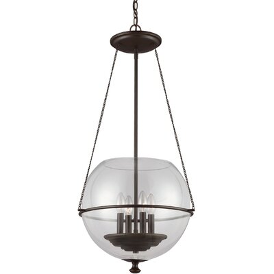 Nunda 4-Light Globe Pendant Finish: Autumn Bronze