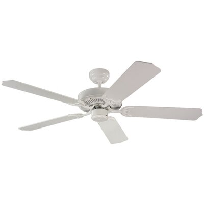 52 Quality Max 5-Blade Ceiling Fan Finish: White with White