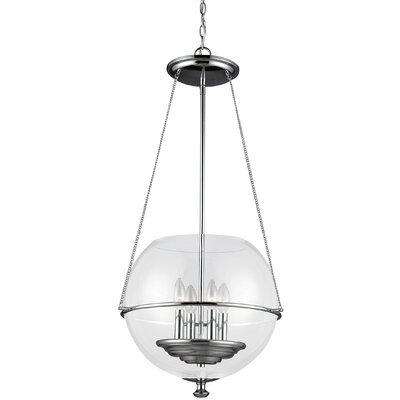 Havenwood 4-Light Globe Pendant Finish: Chrome