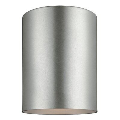 Kieu 1-Light Ceiling Flush Mount Finish: Painted Brushed Nickel, Size: 6.63 H x 5.13 W x 5.13 D