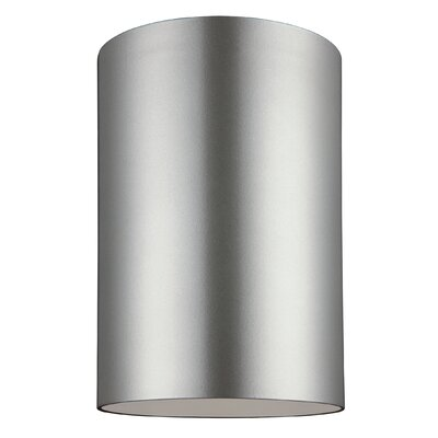 Outdoor Bullets 1-Light Ceiling Flush Mount Finish: Bronze, Size: 6.63 H x 5.13 W x 5.13 D