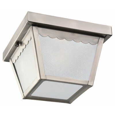 Aylesworth 1-Light Flush Mount Finish: Antique Brushed Nickel