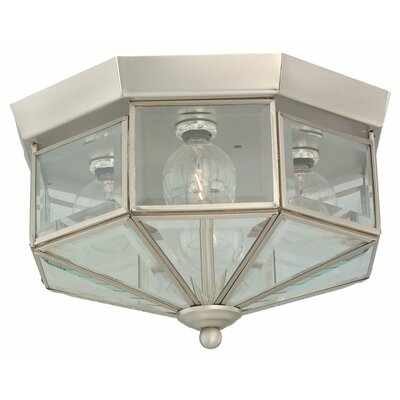 Windermere 4-Light Flush Mount Size: 6.5 H x 11 Dia.