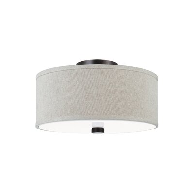 Palomar 2-Light Flush Mount Finish: Burnt Sienna