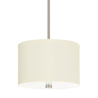 Palomar 2-Light Drum Pendant Finish: Brushed Nickel