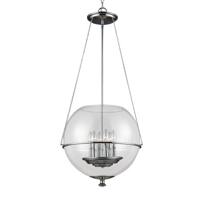 Nunda 6-Light Globe Pendant Finish: Chrome