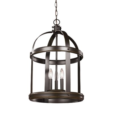 Lonoke 3-Light Hall / Foyer Size: 19.5 H x 10.5 W x 10.5 D