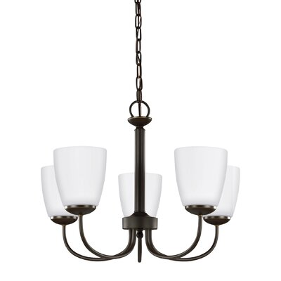 Bannock 5-Light Shaded Chandelier Finish: Heirloom Bronze