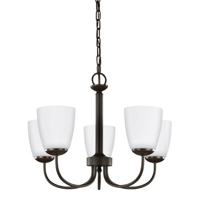 Zolt�n 75782W 5-Light Shaded Chandelier Finish: Heirloom Bronze