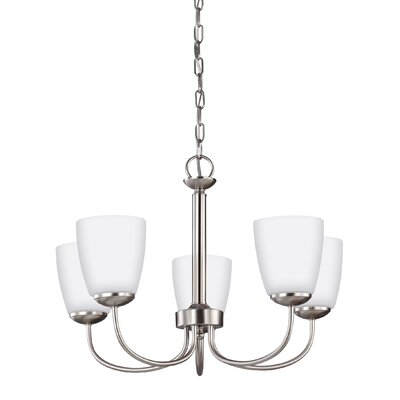 Bannock 5-Light Shaded Chandelier Finish: Brushed Nickel