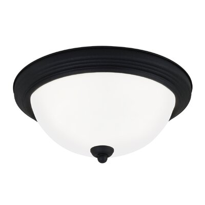 3-Light Flush Mount Finish: Blacksmith