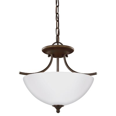 Bannock 2-Light Bowl Pendant Finish: Heirloom Bronze