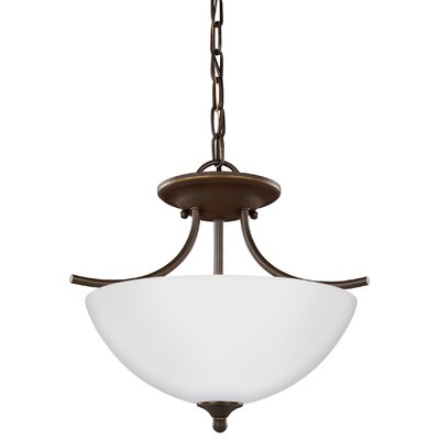 Zolt�n Modern 2-Light Bowl Pendant Finish: Heirloom Bronze
