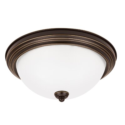 2-Light Flush Mount Finish: Heirloom Bronze