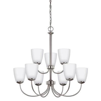 Zolt�n 9-Light Shaded Chandelier Finish: Brushed Nickel