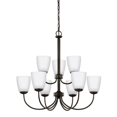 Zolt�n 9-Light Shaded Chandelier Finish: Heirloom Bronze
