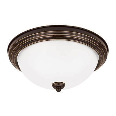 3-Light Flush Mount Finish: Heirloom Bronze