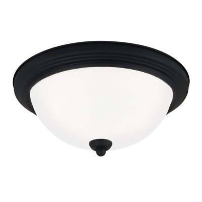 2-Light Flush Mount Finish: Blacksmith