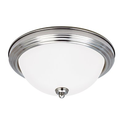 2-Light Flush Mount Finish: Brushed Nickel