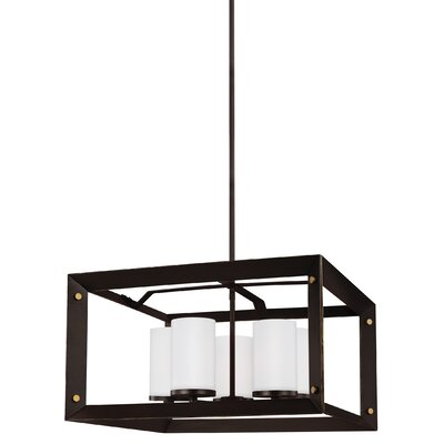 Galindo 100W 5-Light Shaded Chandelier Finish: Antique Bronze