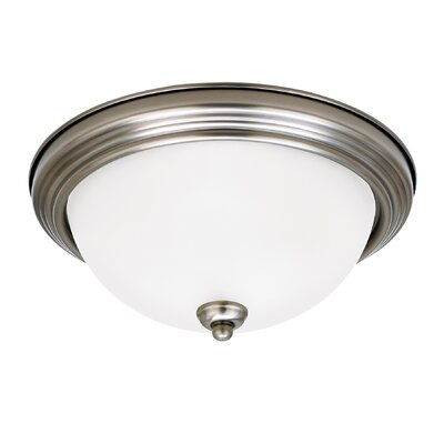 3-Light Flush Mount Finish: Antique Brushed Nickel
