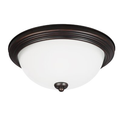 Jemuel 2-Light Flush Mount Finish: Burnt Sienna