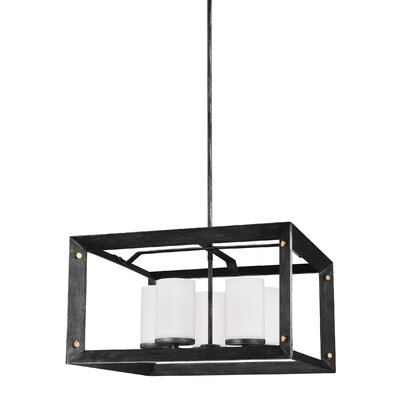 Chatauqua 9W 5-Light Shaded Chandelier Finish: Stardust