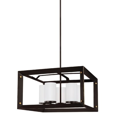 Galindo 9W 5-Light Shaded Chandelier Finish: Antique Bronze