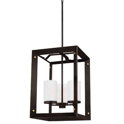 Galindo 3-Light Metal Foyer Pendant Finish: Antique Bronze