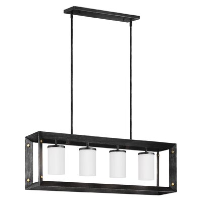 Chatauqua 4-Light Kitchen Island Pendant Finish: Stardust