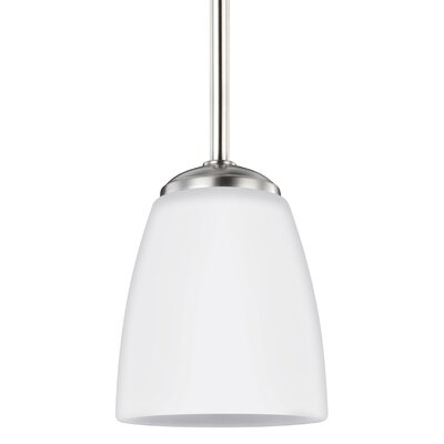 Zolt�n Modern 1-Light Mini Pendant Finish: Brushed Nickel