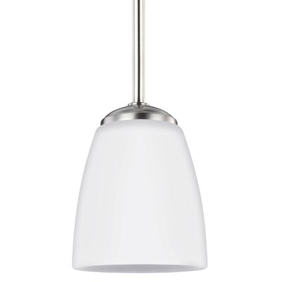 Zolt�n 1-Light Mini Pendant Finish: Brushed Nickel